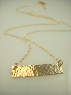 Gold Bar Necklace  Name Plate Necklace  by jamesmichellejewelry, $38.00