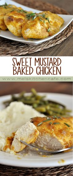 This tasty Sweet Mustard Baked Chicken is one of the easiest baked chicken dishes on my site.