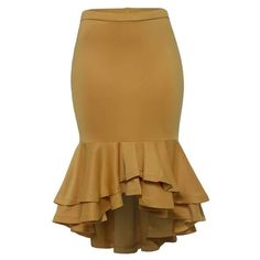 Women Plus Size Skirts Ruffled Trumpet Mermaid Skirts Yellow Fashion Ladies Office Elegant Big Size High Waist Bodycon Skirts - Women's style: Patterns of sustainability Latest African Fashion Dresses, Women's Fashion Dresses, Modest Fashion, Classy Dress, Classy Outfits, Mermaid Skirt, Plus Size Skirts, Yellow Fashion, Body Con Skirt