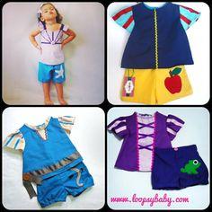 Princess Top  Merida  Snow White  Rapunzel  by LoopsyBaby on Etsy