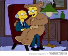 "Smithers wants Burns to ""tug at his fur"" Burns, The Simpsons Show, Fox Tv, Batman, Hug Me, Gay Art, Animation, My Love, Creative"