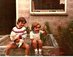 Me and my brother Colm(holding our dog Lassie) on Twitpic