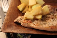 healthy pork chops and apples