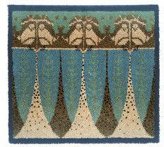Kuusilinna, Lina Palmgren, 1900-luvun alku Rya Rug, Wool Rug, Art Textile, Textile Patterns, Art Nouveau, Art Deco, Tapestry Weaving, Rug Hooking, Floor Decor