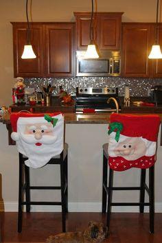 Christmas Decorating: Part 2 Christmas Chair Covers, Christmas Cover, Christmas Design, Christmas Art, Christmas Ideas, Home Crafts, Christmas Crafts, Christmas Sewing Patterns, Christmas Table Decorations