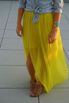 neon yellow maxi & turq cuff Want this so bad..