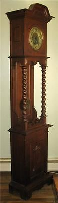 Art Nouveau Open Well Bavaria Oak Tall Case Clock Grandfather Schlenker Kienzle