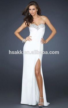 $20 - 26 / Piece Sweetheart Ladies Long White Beaded Design Dubai Fashion Evening Dresses, View long white dress, Product Details from Dongguan Holy Sage Industrial Co., Ltd. on Alibaba.com