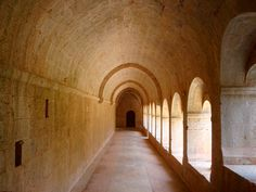 Very pure corridor. The cistercian abbey of Le Thoronet. Just pure material, nothing fake of flimsy. I wish we could still build like this.