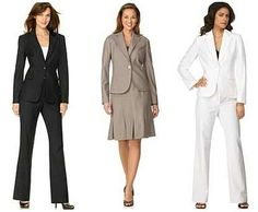 Women Business Suit also in white