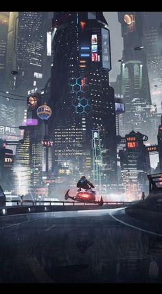 Science fiction architecture cyberpunk city 17 Ideas for 2019 Cyberpunk City, Ville Cyberpunk, Cyberpunk Kunst, Cyberpunk Aesthetic, Futuristic City, Futuristic Technology, Futuristic Architecture, Technology Design, Technology Gadgets