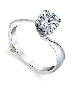 Luna Contemporary Engagement Ring