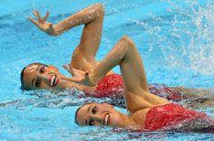 Andrea Fuentes y Ona Carbonell / Natación (Sincronizada dúos) / Medalla de plata