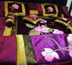 Wedding Collection - #krtifab has a wide range of bedsheets which portrays our Indian Culture and links to Wedding Glamour. For more designs visit us at www.facebook.com/KrtiF
