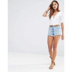 Missguided High Waist Mom Shorts ($34) ❤ liked on Polyvore featuring shorts, grey, short jean shorts, highwaist shorts, high-waisted shorts, high rise denim shorts and high waisted zipper shorts