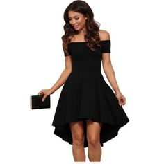 Slay this casual dress at any party. The sleeves are off the shoulder which gives this dress it's sexiness. High low hem too show off your beautiful legs. Choose your color Size sm-large