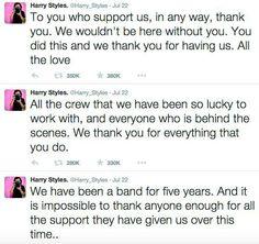 Harrys tweets about 5 years