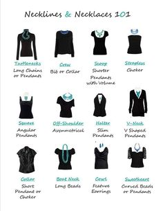 Necklines and necklaces 101