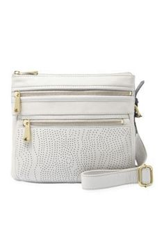 Fossil  Perforated Explorer Crossbody