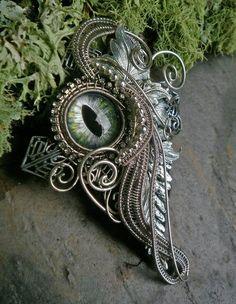 Gothic Steampunk Woven Wire Pendant