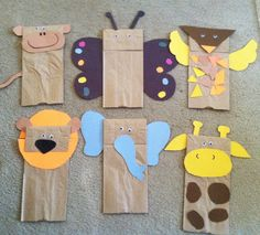 paper bag jungle animal puppets w children's book Giraffe's can't Dance.Brown paper bag jungle animal puppets w children's book Giraffe's can't Dance. Safari Crafts, Jungle Crafts, Farm Animal Crafts, Animal Crafts For Kids, Vbs Crafts, Camping Crafts, Toddler Crafts, Art For Kids, Jungle Theme Activities