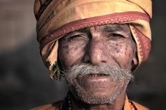 Hindu man attending the Kumbh Mela, Nashik, India.