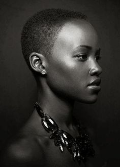 This portrait is everything. Oh, how I adore Lupita Nyong'o. Photo by Miller Mobley. Black Girls Rock, Black Girl Magic, Pretty People, Beautiful People, Short Hair Styles, Natural Hair Styles, My Black Is Beautiful, Stunning Girls, Famous Faces