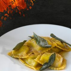 Indulge a little...spinach and ricotta-filled ravioli resting in sweet butter and sage sauce.#ToucheMiami#Italian by touchemiami