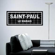 Collez ce sticker sur votre mur en voquant un des lieux for Collant mural canada