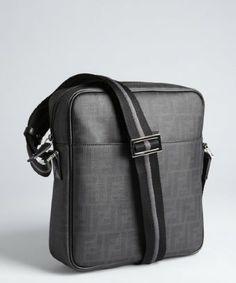 e77d85f7740c Fendi zucca spalmati messenger bag
