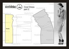 Modelagem de vestido Cowl Dress part 2