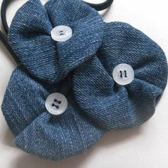 Recycled denim Flower swirl.