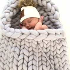 Chunky knit baby bag - Line Biagio Bunny Suit, Merino Wool Blanket