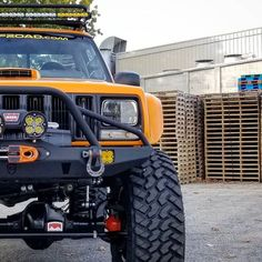 Sorry if you are tired of teaser shots but that's all we can share for now. Full reveal of the happens next week! Dodge Trucks, Jeep Truck, Orange Jeep, Motorhome, Jeep Sport, Nissan Terrano, Jeep Xj Mods, Jeep Bumpers, Jeep Grand Cherokee