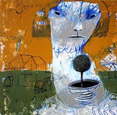 "Saatchi Art Artist Rusudan Khizanishvili; Painting, ""The Tree"" #art"