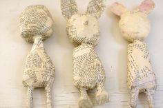 making paper machete dolls..make then dress