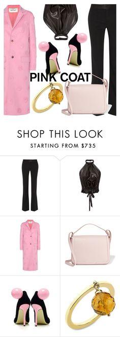 """Anastazio-pink coat"" by anastazio-kotsopoulos ❤ liked on Polyvore featuring Victoria Beckham, Rodarte, Valentino, Dolce&Gabbana, Giannico and Anastazio"