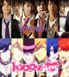 STARISH! (Uta No Prince Sama 1000% Love) : Miyano Mamoru, Taniyama Sishou, Shimono Hiro, Suwabe Junichi, Suzumura Kenichi,  Terashima Takuma