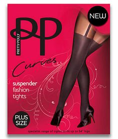9e9d6d081 Pretty Polly Curves Suspender Fashion Tights Plus Size Hosiery PMARE7 at  BareNecessities.com Suspenders Fashion