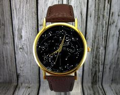 Vintage Constellation Watch   Southern Hemisphere   Leather Watch   Ladies Watch   Mens Watch   Gift   Stocking Stuffer   Christmas Gift