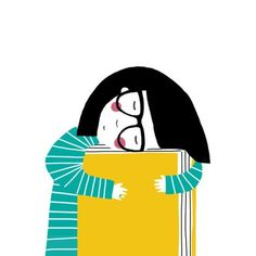 Illustration of Paloma Canonica Feel Good Books, I Love Books, Books To Read, My Books, Girl Reading Book, Reading Art, Reading Fluency, Lectures, Book Reader