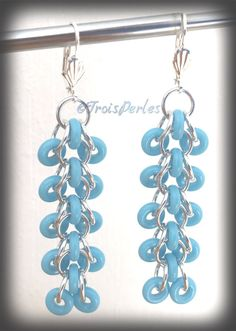 05  Chain Maille Ohrringe  Chainmaille Earrings von TroisPerles