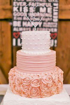 18 Gorgeous Textured Wedding Cakes ❤ Textured wedding cakes – with ruffles…