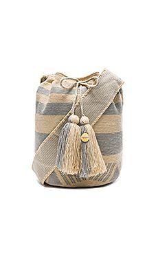 Stripe Large Bucket Bag