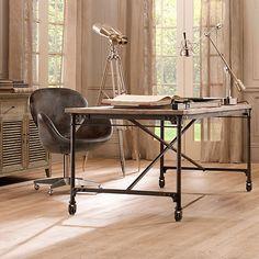 2017 Modern Designer Office Desk Solid Wooden Table Vintage Furniture Escritorio With