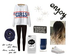 """F-R-I-E-D-S"" by marystanford ❤ liked on Polyvore featuring Chicnova Fashion, Converse, Umbra, BP., Nails Inc. and Casetify"