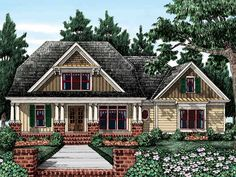 Cottage House Plan with 3194 Square Feet and 4 Bedrooms(s) from Dream Home Source | House Plan Code DHSW53505