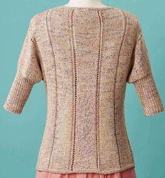 Women's jumper knitting pattern