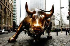 O touro de ferro de Wall Street em Nova York.