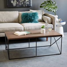 Lamon Luther Coffee Table | west elm on sale now for $419 and helps the homeless- kinda awesome